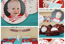 Baseball Birthday Party / Whether you're planning for your little man or your big one, you'll find great ideas for baseball birthday parties and bar mitzvahs.