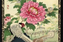 Bairei Flower and Bird Prints 1883