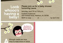 Baby Showers / Print materials related to baby showers and expecting mothers. Names, addresses and other contact information are removed for clients' privacy.