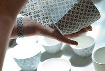 Teapots, glasses, handmade, dishware