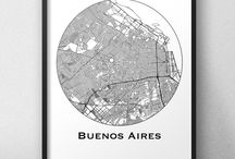 Affiche de villes Amériques du Sud