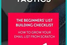 Email list / Faire grossir les abonnés à son blog et newsletter. marketing par mail