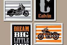 motorbikes for kids room