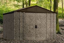Arrow Camo Shed / For the outdoors man in your life, the Arrow Camo Shed offers a 10' x 8' footprint for larger storage needs. Tall walls, swing doors, lockable handles, are just a few of the  features of this shed
