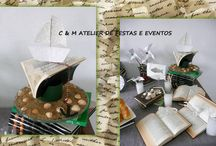 FAIRYTALE BOOK PARTY / Table design - umdiadefesta ; Graphic design and party kit - shop decora a festa ; Sweets and other food - Bolos e Bolinhos Atelier
