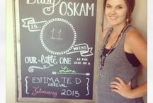 Baby Oskam Chalkboard and growth chart / So I can't loose the pictures even if my phone breaks!!