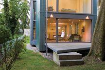 домик в современном стиле