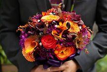 Wed wine, orange and violet