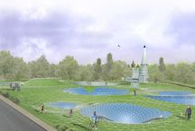 "Multifunctional Museum Complex in Yaroslavl / Address: The territory of the ""Spartakovets Stadium"", Yaroslavl, Russia Area: 2,6 ha Project year: 2013    Authors of the project: Telemak ANANYAN, Gohar ISAKHANYAN, Hayk MARTIROSYAN, Ani SAFARYAN, Anush KARAPETYAN"