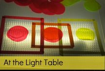 Light table activities!
