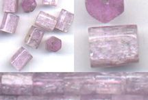 Stone Beads > Kunzite Beads / Natural Kunzite beads in a variety of shapes, styles and colors.