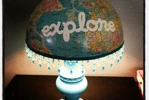 Repurposed globes / by Valerie Bishop
