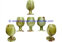 GREEN ONYX WINE GLASSES