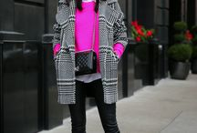 houndstooth print coat