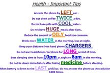 Health / Health and beauty tips.For more such cool stuff visit my blog..:) http://www.healthysake.com
