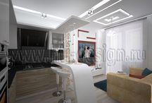 Дизайн интерьера 1-комнатной квартиры свободной планировки (И-155) / http://hti-design.ru/portfolio/projects/design-interiera-1-komnatnoy-kvartiry-svobodnoy-planirovki.html