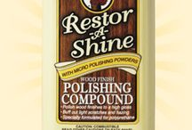 Restor-A-Shine Polishing Compound / Restor-A-Shine Polishing Compound is specially formulated for restoring the high gloss shine to wood finishes. Use on floors, furniture, bar tops, table tops, and pianos to return gloss finishes to a high shine. Perfect as the final step for rubbing out a new high gloss finish or for restoring a high shine wood finish after using Restor-A-Finish.