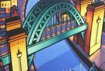 Jim Edwards / Jim Edwards is best known for his depictions of iconic buildings and bridges of the North east. His work falls into two genres, contemporary cityscapes and abstract paintings inspired by manmade forms and buildings. Both styles follow a theme of architecturally inspired structures and dominating linear form