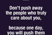 Push people away