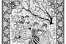 """""""Oriental"""" coloring pages / All our oriental coloring pages !!! See more --> http://www.coloring-pages-adults.com/coloring-oriental/"""