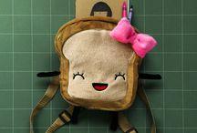 Mrs. Little Bread Slice Backpack / Cute Bread Backpack for Kids!