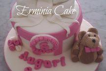 cake with teddy bear
