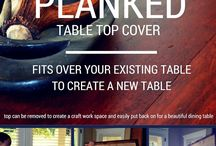 DIY easy planned table top cover