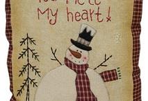 Primitive Winter Snowman Theme