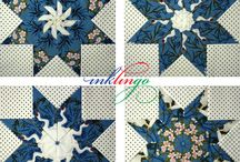 Star Quilts / Print shapes on fabric with your ordinary Inkjet printer and sew by hand or by machine with Inklingo!