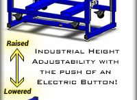 Industrial Height Adjustable Workstations, Machine Bases, and Operator Lifts / Ergonomic furniture for the industrial workplace: height adjustable workstations / workbenches, operator platforms / lifts, machine bases, retrofit kits, and more, all by LTW Ergonomic Solutions!