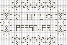 Blackwork Jewish embroidery