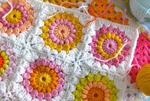 flowers granny blocks