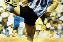 Soccer Players Artworks Oil Paintings