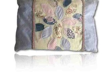 Upcycle for the home / Ideas and instructions on beautiful cushions and throws. Everything you need can be found on our websites. We hope you enjoy making them just as we have.   www.scanlansarts.com