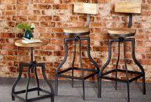Vintage bar stools / Vintage, industrial bar stools