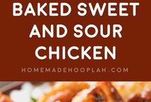 Baked sweet &I sour chicken