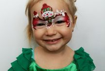 christmas face painting and glitter art
