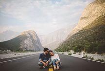 Couple travel photos