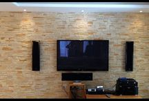 feature wall cladded
