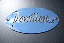 Barbecue - Parrillero / Barbecue con brace continua, parzializzazione della cottura, mensola di appoggio esclusivo e unico.