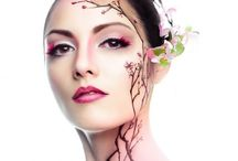 Creative Makeup / A board showcasing creative makeup styles that I like.