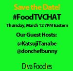 #FoodTVChat / #TwitterChat focused on FoodTV live tweeting. Join us Thursdays at 7p at #FoodTVChat