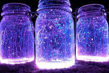 galaxy and glow in the dark diys