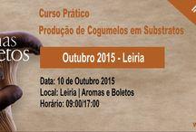 Cursos de Produção de Cogumelos em Leiria / Aqui pode encontrar toda a informação sobre a Agenda formativa da Aromas e Boletos
