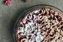 Raspberry-cottage cheese pie