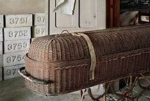 Old Morgues/Mortuary/Caskets/Hearse's