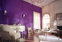 Violet white black