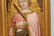 Taddeo di Bartolo: Santa Caterina d'Alessandria / Taddeo di Bartolo: Santa Caterina d'Alessandria. Siena, inizio XV secolo. Caen, musée de beaux arts