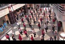 Flash mobs, dancing, singing