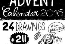 Karo Rigaud's Advent Calendar 2016 / Illustrations Advent Calendar 2016 - One Day, One Drawing made by illustrator Karo Rigaud